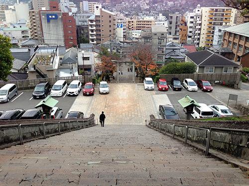 諏訪神社の上から振り返る