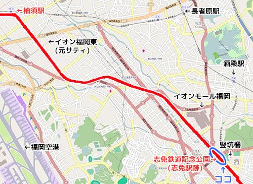 地図 志免鉄道公園