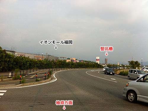イオンモール福岡付近