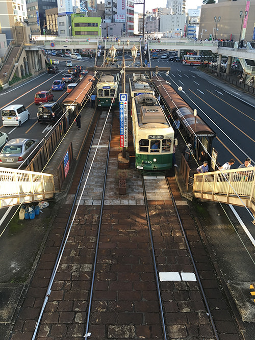 長崎駅前の電停の写真