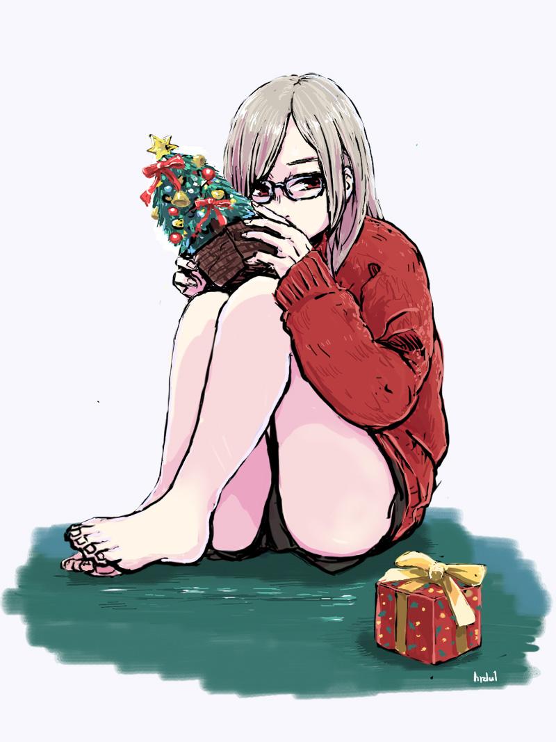 クリスマスの女の子のイラスト